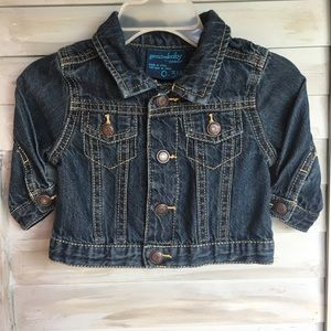 OSHKOSH 0-3 mos Newborn Denim Blue Jean Jacket